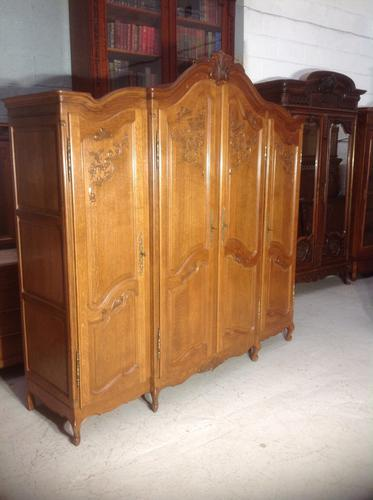 French Oak Carved Armoire (1 of 14)