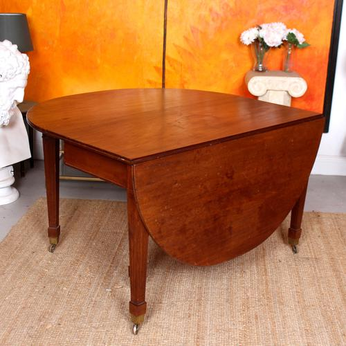 Antique Edwardian Mahogany Gateleg Dining Table Country Drop Leaf Kitchen Table La209835 Loveantiques Com