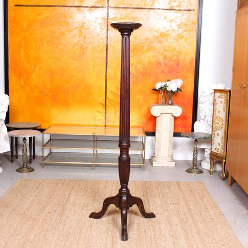 George III Torchiere 18th Century Mahogany Plant Stand (1 of 6)