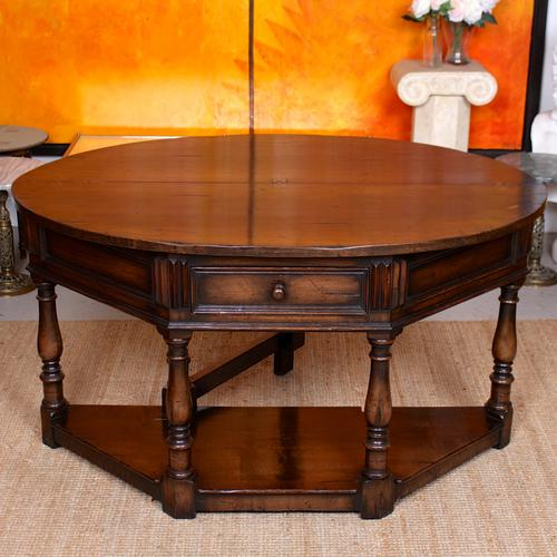 Oak Creedence Table Large Carved Folding Dining Console Table (1 of 12)