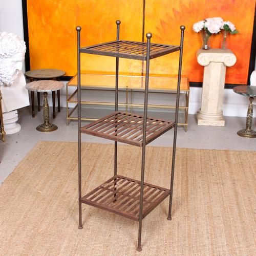 French Wrought Iron Etagere Whatnot Shelving Stand (1 of 11)