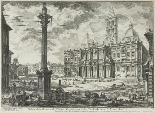 Giovanni Battista Piranesi Etching 'Santa Maria Maggiore', 3rd State c.1750 (1 of 5)