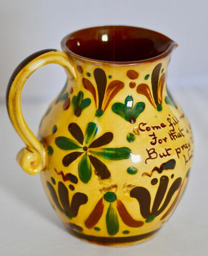 19th Century Aller Vale 'Kerswell Daisy' Pattern Jug (1 of 10)