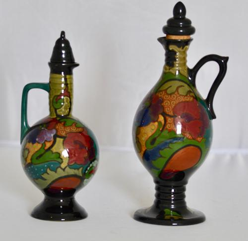 Two Beautiful Dutch Art Deco Gloss Plated Liqueur Jugs c.1920 (1 of 12)