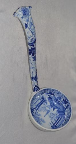 Wedgwood Blue Claude Pattern Soup Ladle c.1825 (1 of 10)