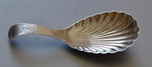 Attractive Silver Caddy Spoon by Thomas Willmore, Birmingham 1800 (1 of 5)