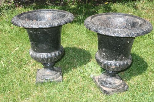Pair of 19th Century Caste Iron Jardinieres (1 of 3)