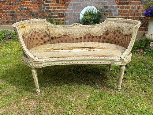Small French Sofa in Original Paint (1 of 6)