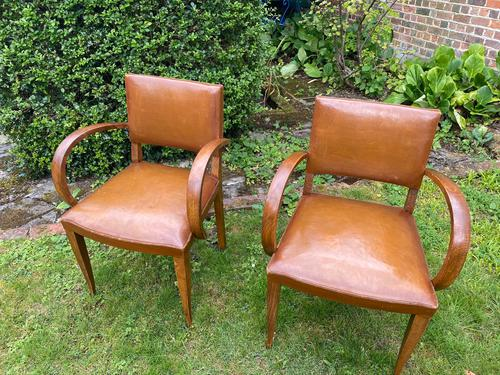 Pair of Leather Bridge Chairs (1 of 6)