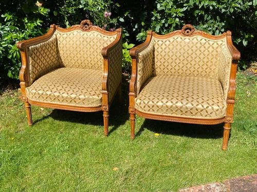 Pair of Carved Walnut Armchairs (1 of 9)