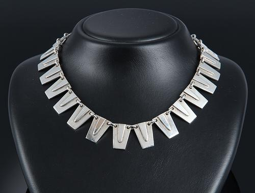 Sterling Silver Necklace by Emil Hansen, Odense, Denmark (1 of 3)