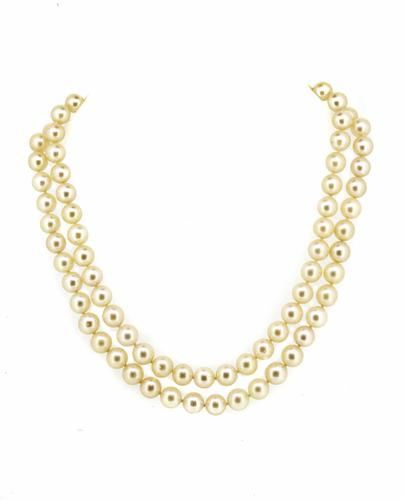 Japanese Akoya Culture Pearl Double Row Necklace (1 of 6)