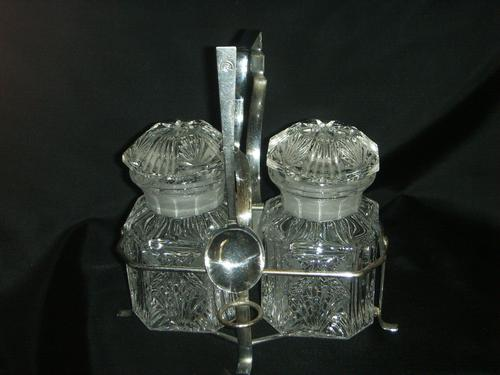 Jam or Marmalade? Nice Twin Preserve Jars in Holder with Spoon (1 of 8)