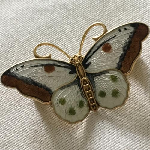 Enamel Butterfly Brooch by Hroar Prydz, Norway c.1960 (1 of 3)