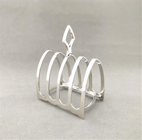 Attractive Four Slice Silver Toast Rack (1 of 3)