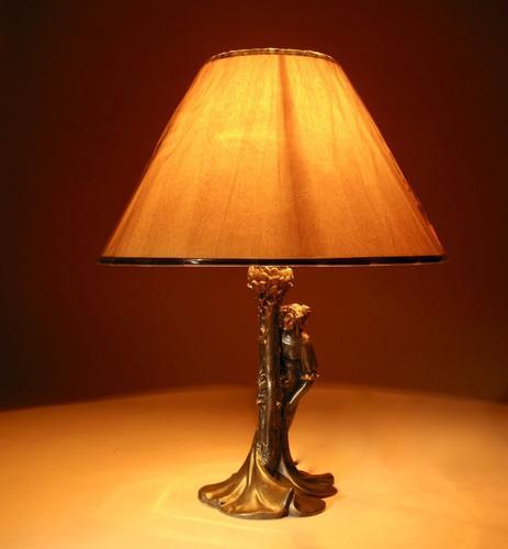 Original Art Nouveau Period Amusing Table Lamp, Continental Germany / Austria c.1900 (1 of 7)