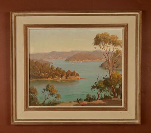 Australian Interest South Pittwater 'North of Sydney' Painting (1 of 6)