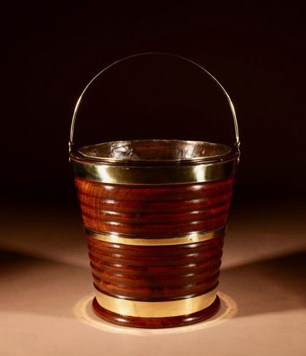 Early Dutch Cuban Mahogany & Brass Bound Bucket / Jardinière 19th Century (1 of 9)