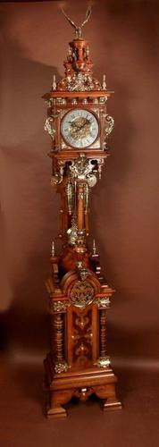 Exhibition Quality Black Forest LFS Longcase Clock c.1876 (1 of 12)
