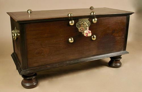 Dutch Colonial Hard Wood Chest with Brass Mounts (1 of 5)