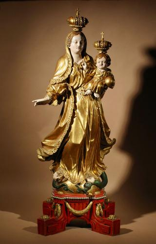 Beautiful Finely Carved and Original Gilded Madonna & Child (1 of 15)