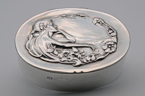 Art Nouveau Silver Box (1 of 2)