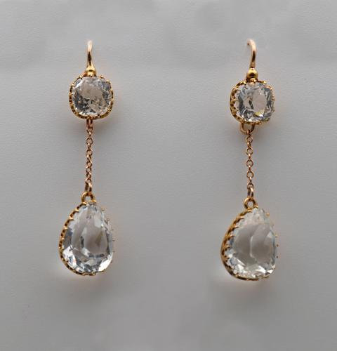 Gold and Rock Crystal Earrings (1 of 3)