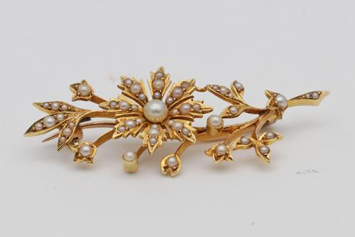 Early 20th Century Gold Brooch (1 of 2)