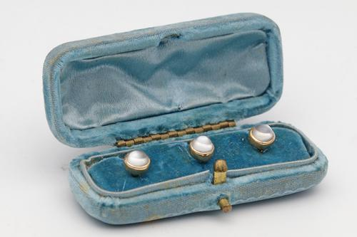 Early 20th Century Moonstone Dress Studs (1 of 2)