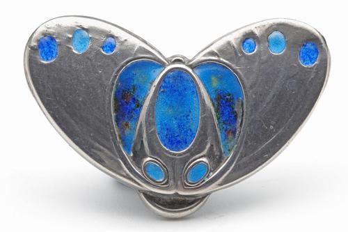 Art Nouveau Silver & Enamel Brooch (1 of 2)