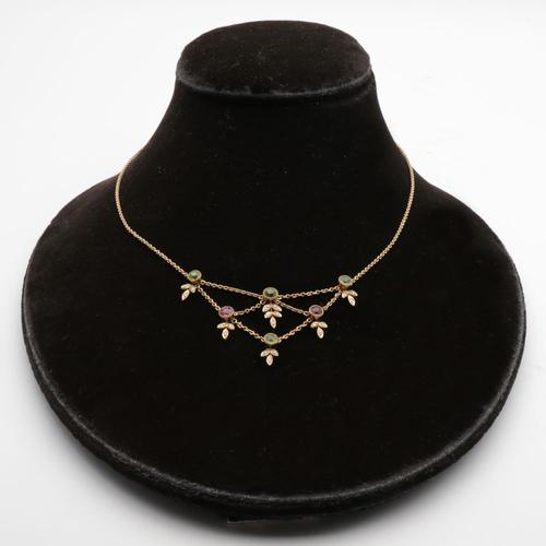 Elegant Edwardian Gold Necklace (1 of 3)