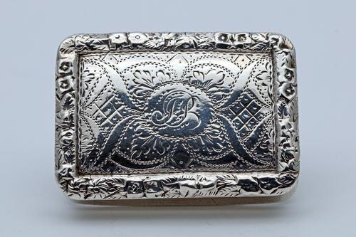 William IV Silver Vinaigrette by Nathaniel Mills (1 of 5)