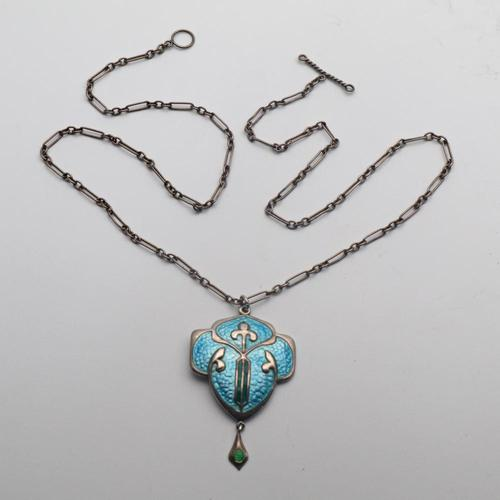 Arts & Crafts Enamel Pendant (1 of 2)
