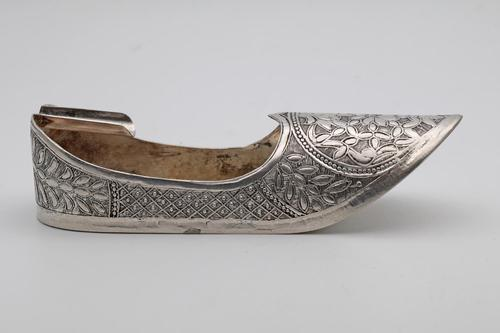 Antique Indian Silver Novelty Shoe (1 of 2)