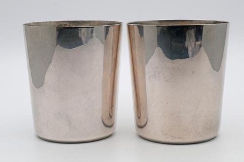 Rare 19th Century Portuguese Silver Beakers (1 of 4)