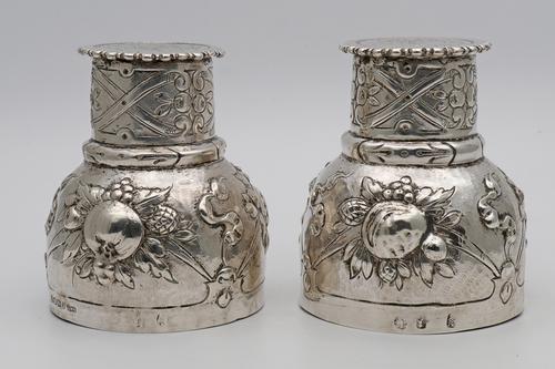 Unusual Victorian Silver Beakers (1 of 5)