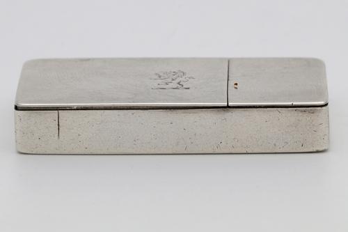 Rare Solid Silver Victorian Snuff Box / Vesta Case Nathaniel Mills (1 of 4)