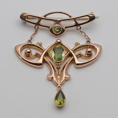Rare Arts & Crafts Peridot Brooch by Liberty & Co (1 of 2)