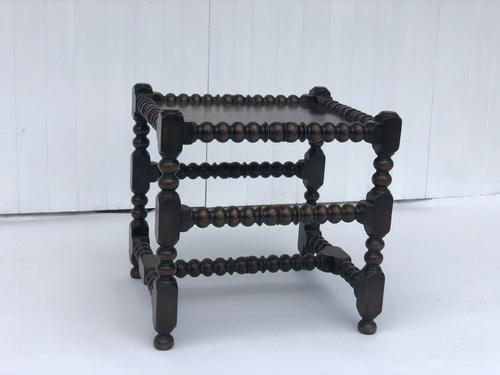 Unusual Bobbin Turned Small Victorian Coffee Table (1 of 4)