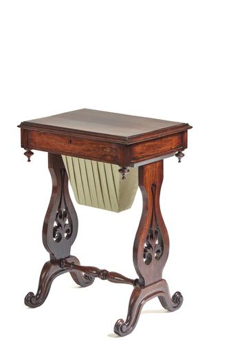 Victorian Hardwood Freestanding Work or Lamp Table (1 of 9)