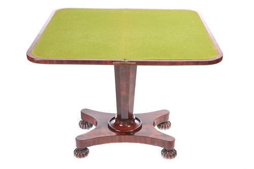 Quality Victorian Mahogany Card Table (1 of 12)