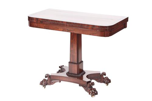Quality William IV Rosewood Card Table (1 of 14)