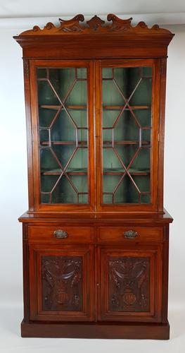 Walnut Library Bookcase (1 of 6)