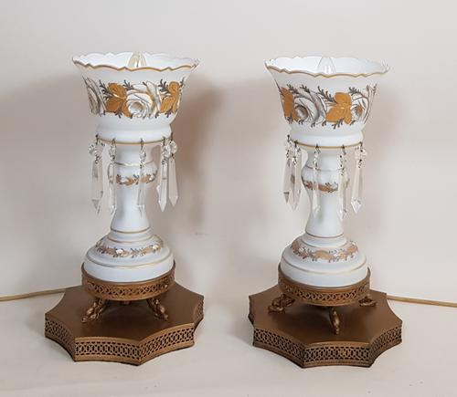 Pair of Glass Table Lamps (1 of 5)