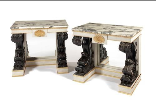 Pair of George II Style Console Tables c.1940 (1 of 10)