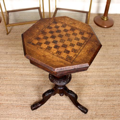 Chess Board Trumpet Work Table 19th Century (1 of 10)