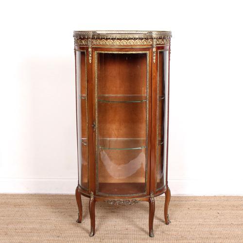 French Marble Kingwood Glazed Vitrine Display Cabinet c.1880 (1 of 20)