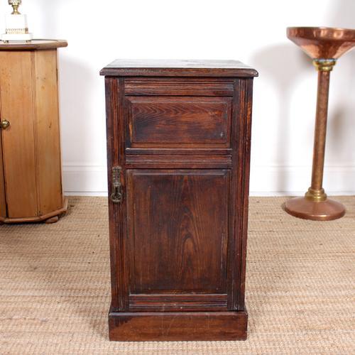 Oak Bedside Table Side Cabinet 19th Century (1 of 7)