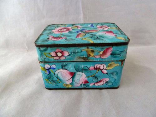 Late 19th Century Chinese Canton Enamel Box (1 of 6)