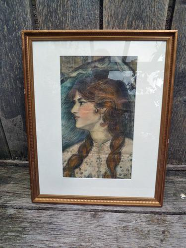 Stunning 19th Century Pre Raphaelite Portrait of a Young Lady - Rossetti, Millais, Holman Hunt (1 of 6)